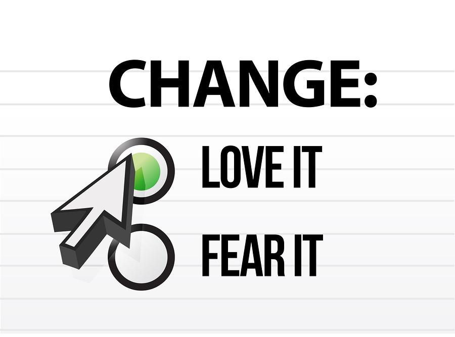 loving or fearing change illustration design over a white background